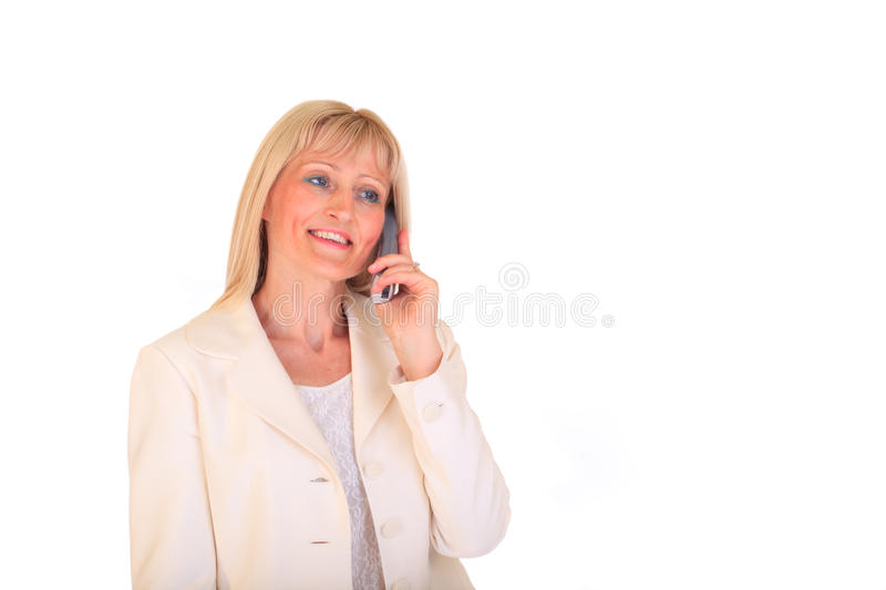 Businesswoman making call royalty free stock photos