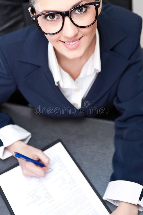 Download Businesswoman Making Note Business Stock Photo - Image: 19523386