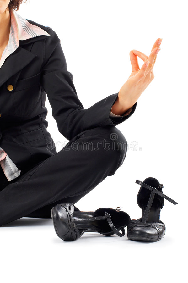 Download Businesswoman Meditating stock photo. Image of image, copy - 4296254