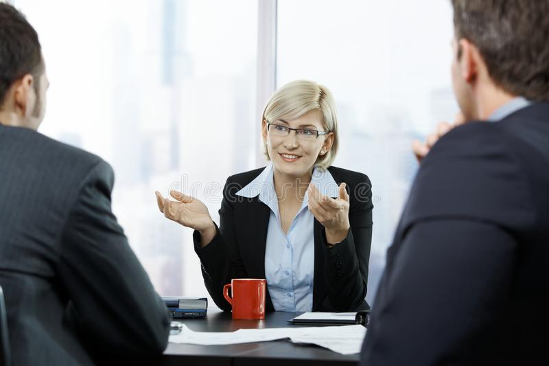 Download Businesswoman at meeting stock photo. Image of american - 22784870