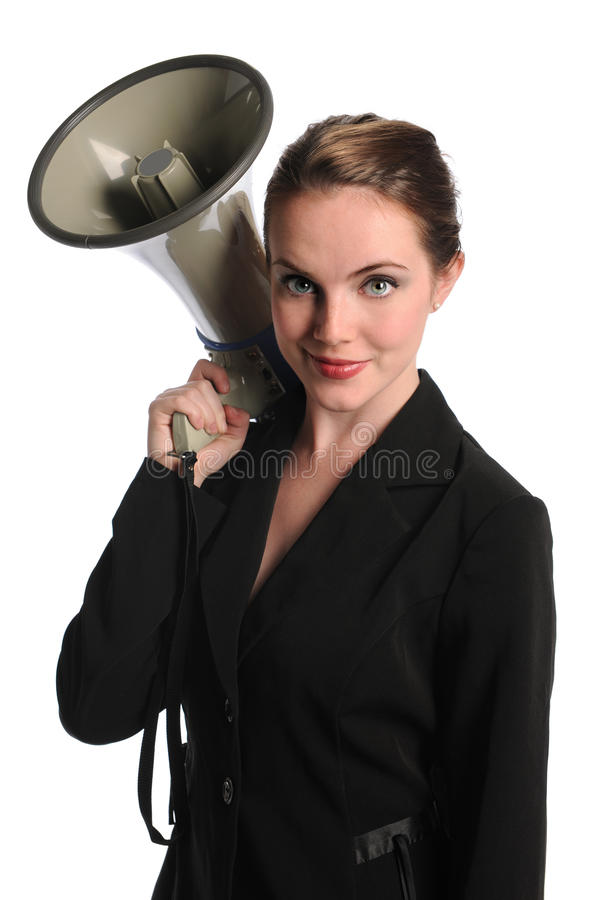 Download Businesswoman With Megaphone Stock Photo - Image: 21860870