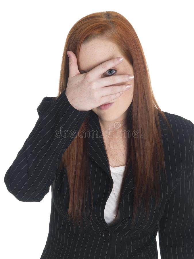 businesswoman może t fotografia stock