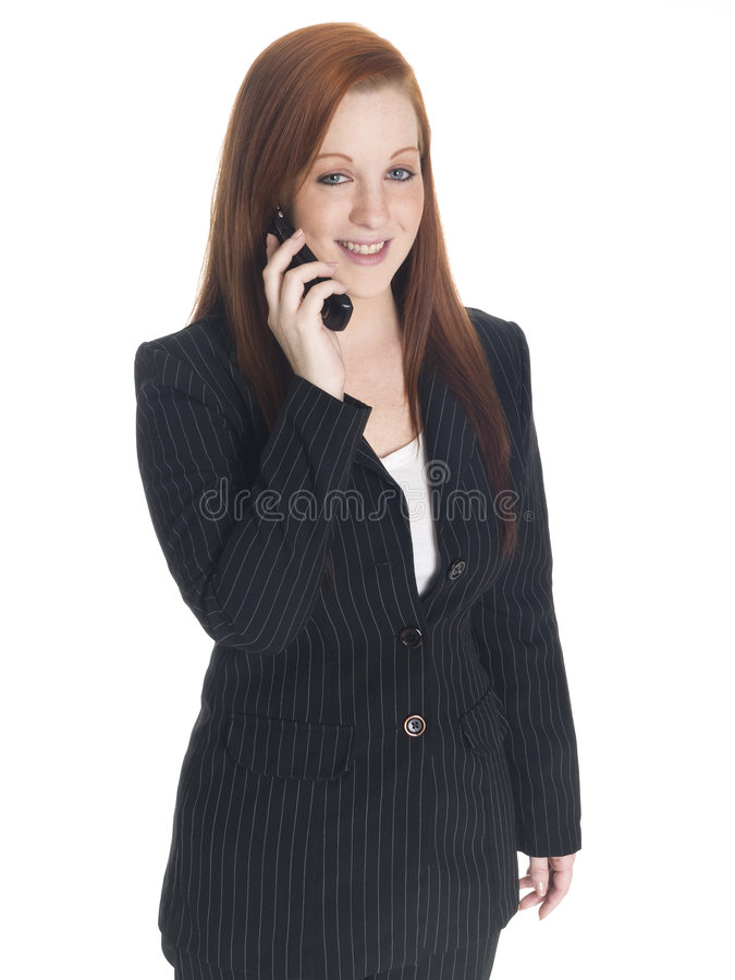 Businesswoman with mobile stock photos