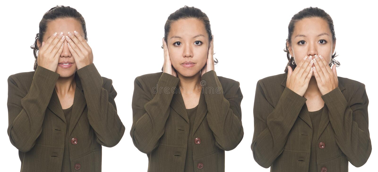 Download Businesswoman - no evil stock image. Image of employee - 6505543