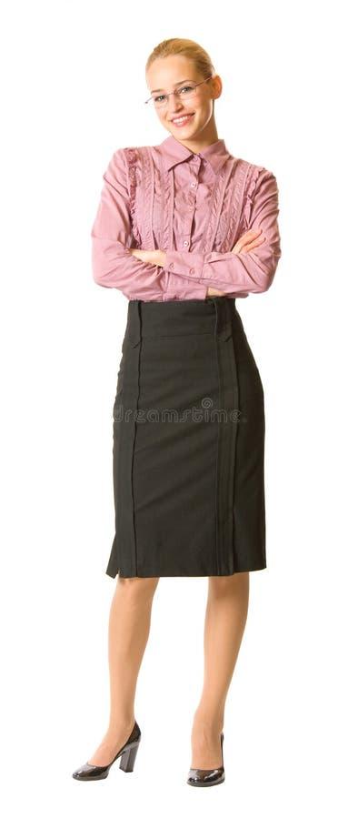 businesswoman odizolowane fotografia stock