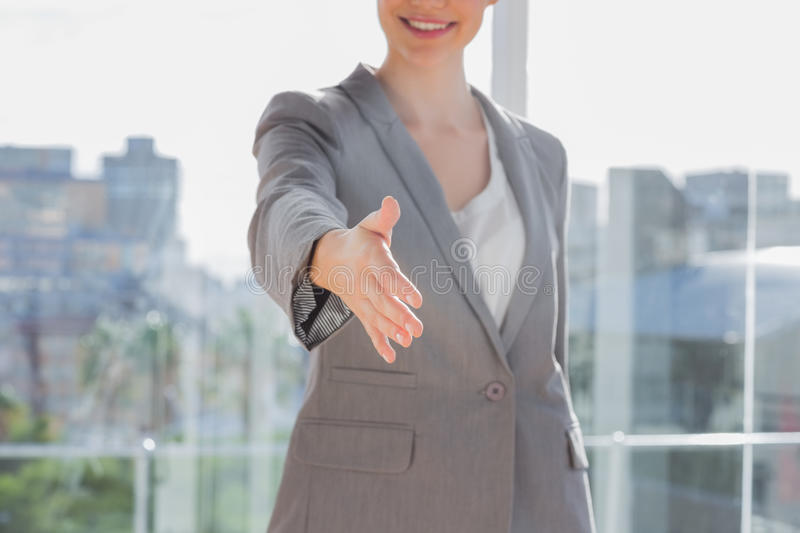 Download Businesswoman Offering Hand For Handshake Stock Images - Image: 31670224
