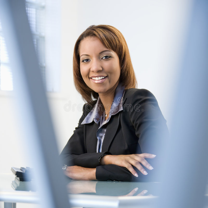 Download Businesswoman in office stock image. Image of confident - 4996941