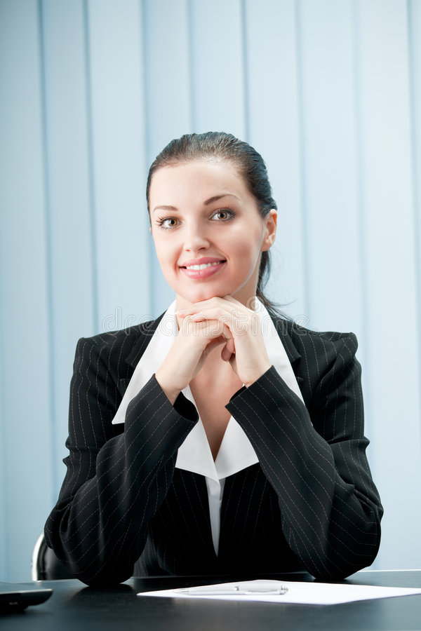 Businesswoman at office stock images