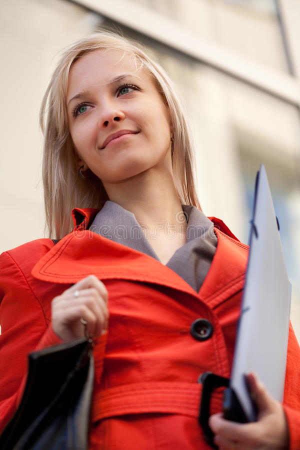 Businesswoman Outdoors Royalty Free Stock Photography