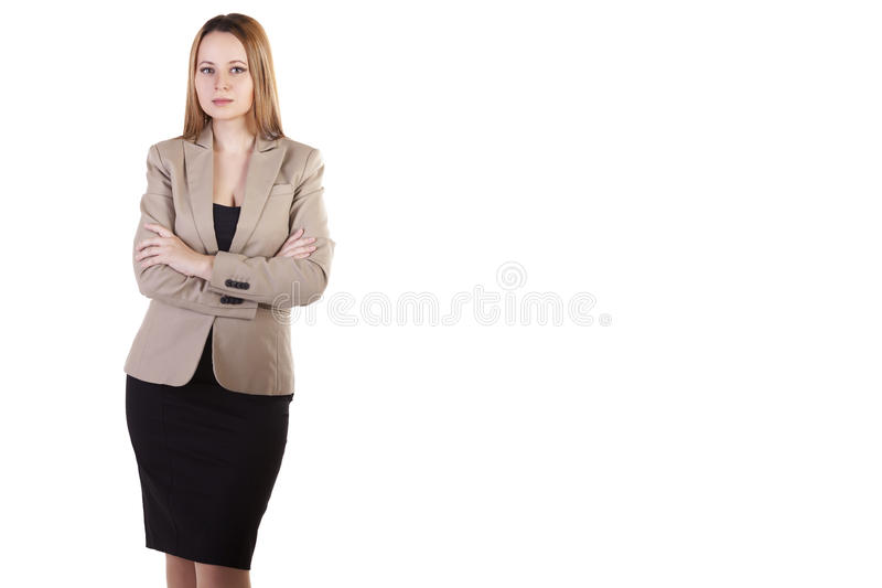 Download Businesswoman Over White Background With Copyspace Available Stock Image - Image: 31976291