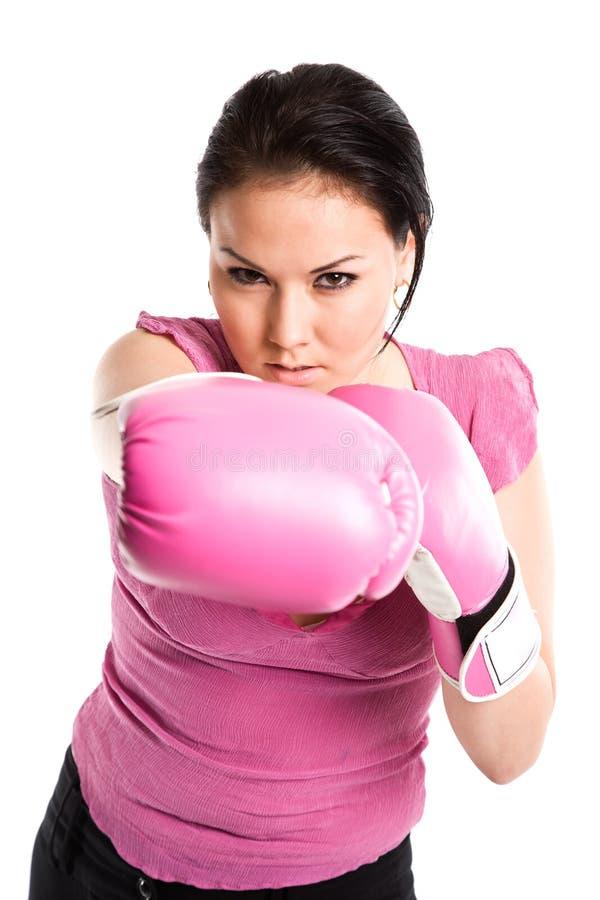 businesswoman pewien rękawiczek walnąć zdjęcia royalty free