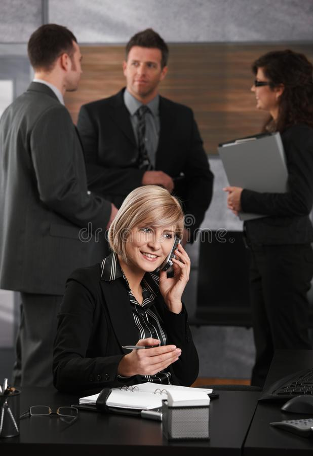 Download Businesswoman on the phone stock image. Image of desktop - 13053041