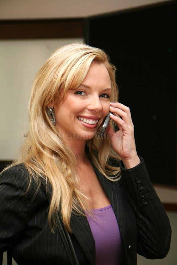 Businesswoman on Phone royalty free stock photos
