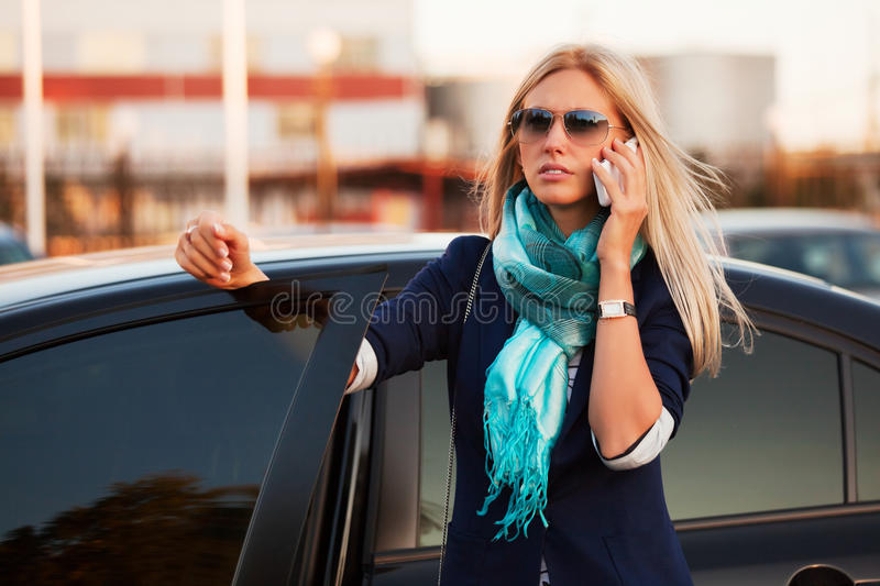 Download Businesswoman on the phone stock photo. Image of black - 16838018