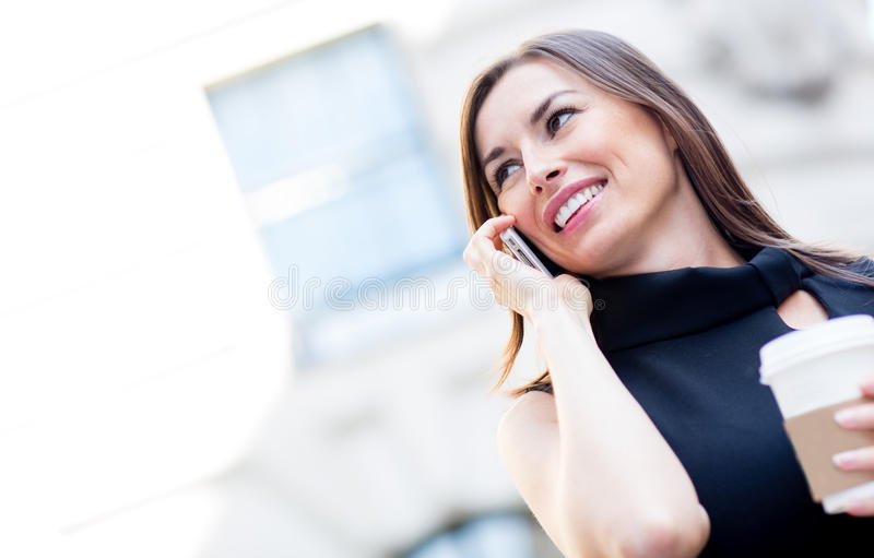 Download Businesswoman on the phone stock photo. Image of cute - 26581120