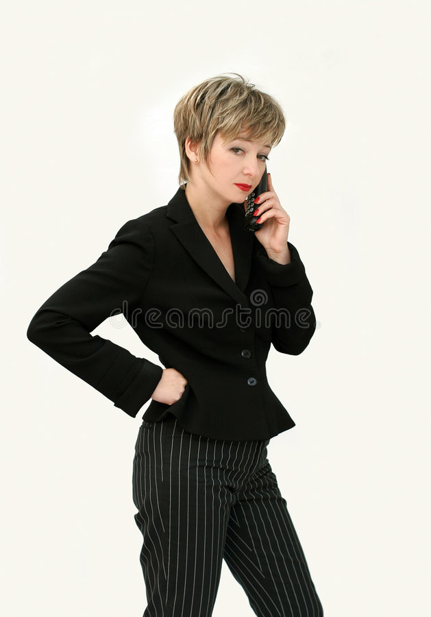 Download Businesswoman on the phone stock image. Image of businesspeople - 301713