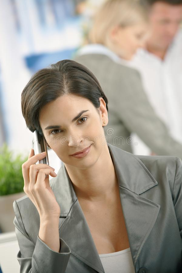Download Businesswoman On Phone Call Stock Image - Image of bright, career: 18076845