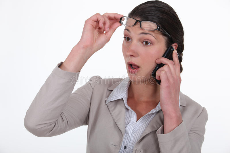 Download Businesswoman On The Phone. Stock Photo - Image: 33674016