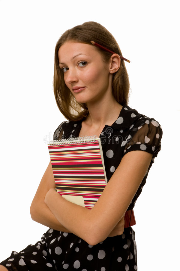 Businesswoman with Daily Planner stock photo