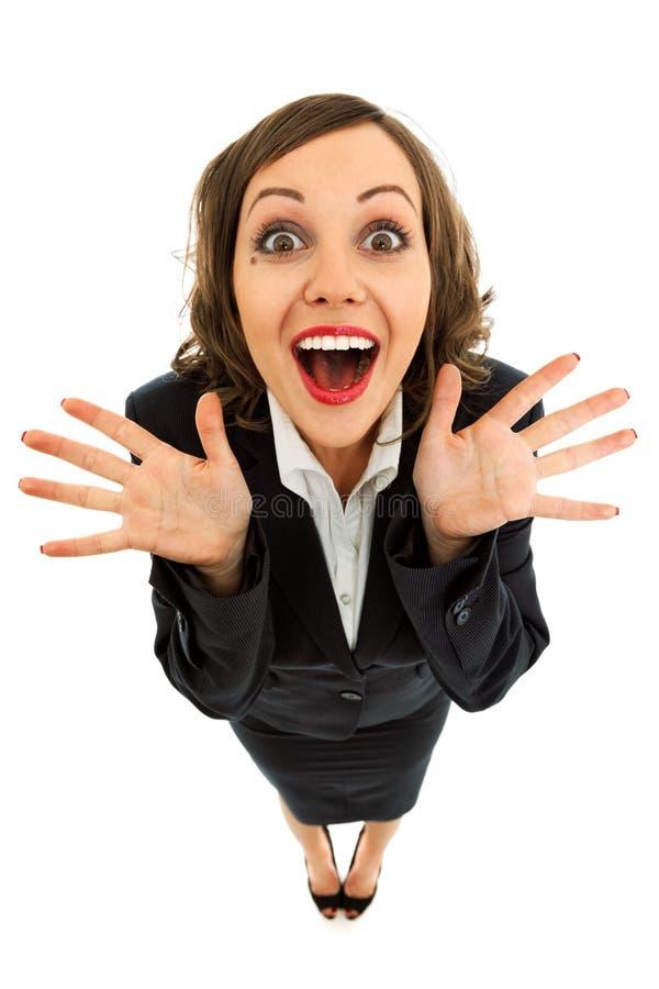 businesswoman podekscytowany zdjęcie stock