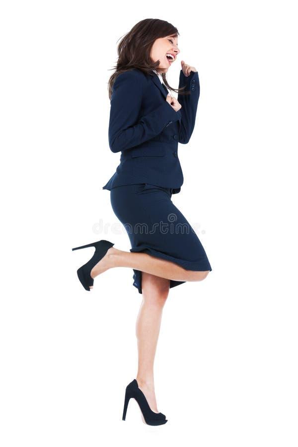 businesswoman podekscytowany zdjęcia stock