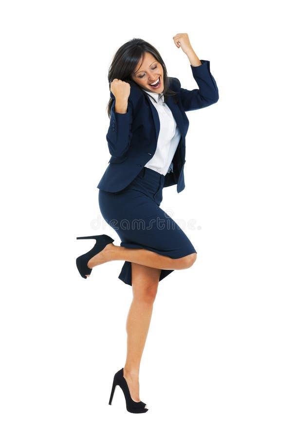 businesswoman podekscytowany obrazy stock