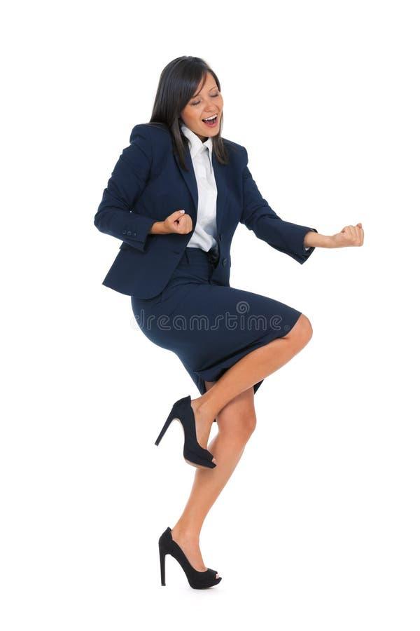 businesswoman podekscytowany obraz stock