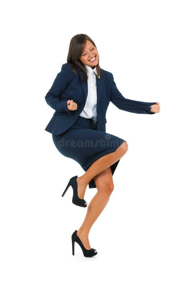 businesswoman podekscytowany obraz royalty free