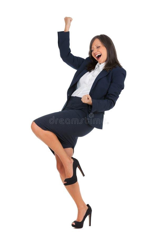 businesswoman podekscytowany zdjęcie royalty free
