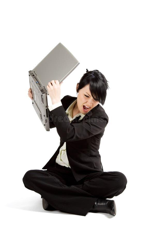 businesswoman podkreślić obrazy stock