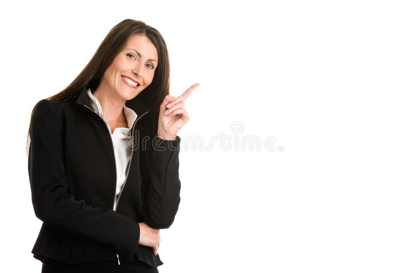 Businesswoman Pointing Royalty Free Stock Photography