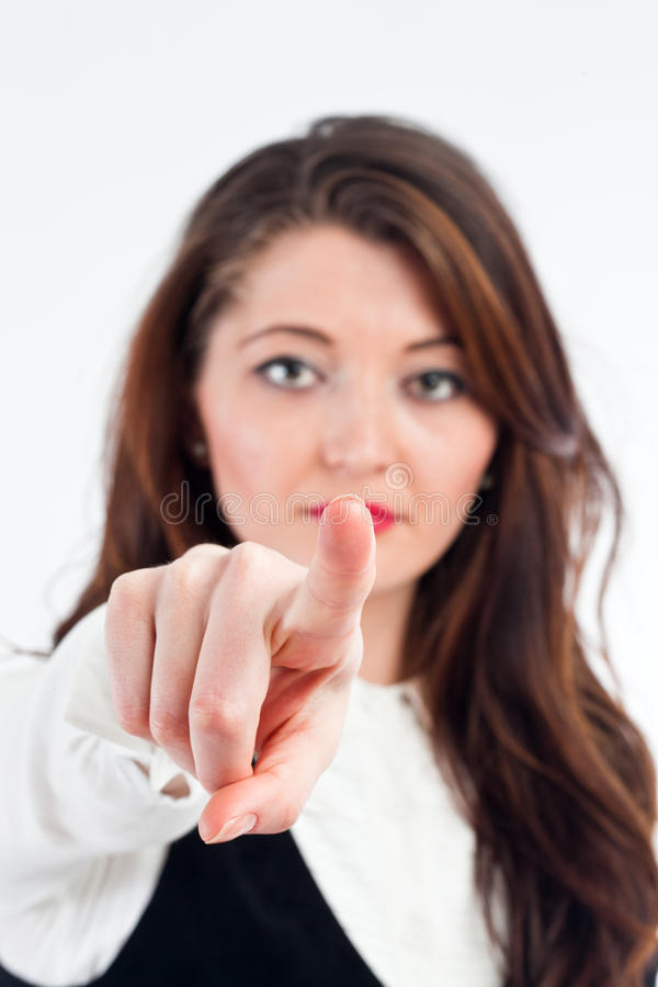 Download Businesswoman pointing stock image. Image of leaning - 28224495