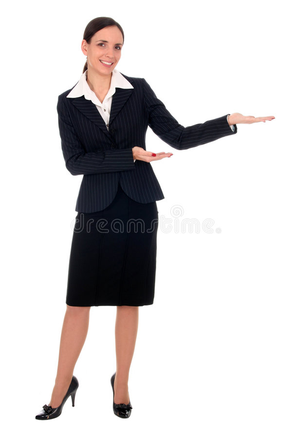 Businesswoman Pointing royalty free stock image