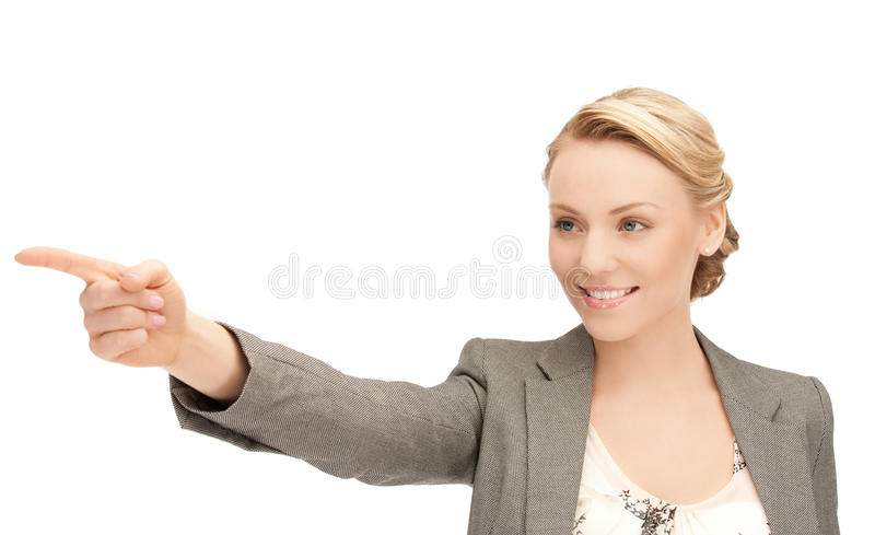Download Businesswoman Pointing Her Finger Stock Image - Image: 20743613