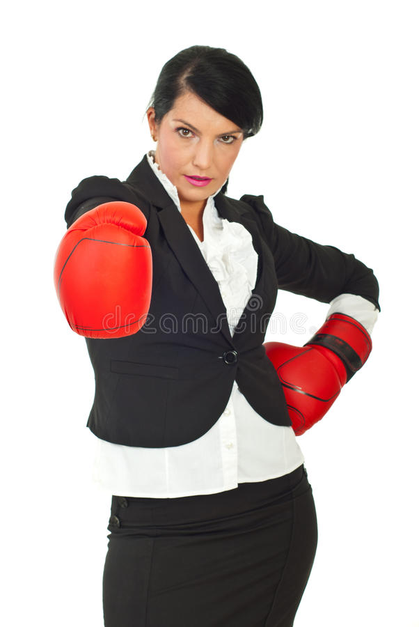 Download Businesswoman Prepared For Competition Stock Photo - Image: 20510456