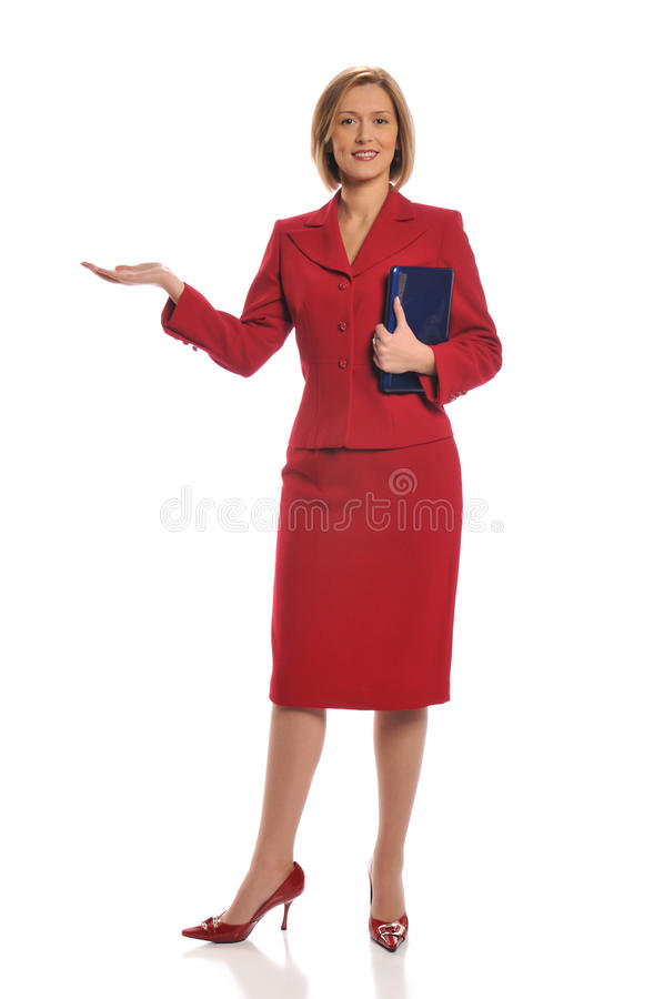 Businesswoman during a presentation stock photography