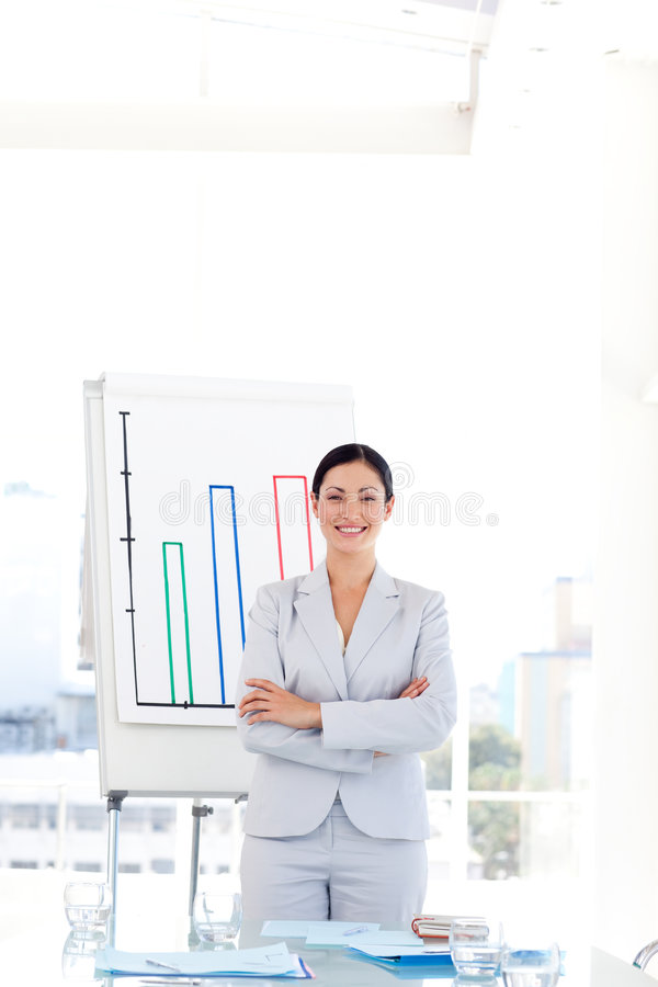 Download Businesswoman In A Presentation Stock Image - Image: 9166625