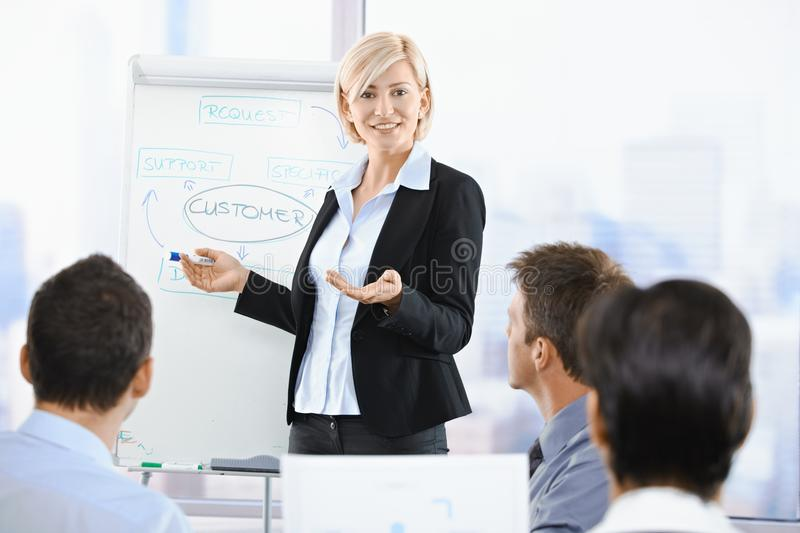 Download Businesswoman presenting stock image. Image of aged, conducting - 13608935