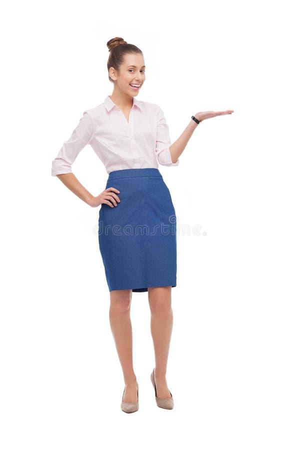 Businesswoman Presenting Something Royalty Free Stock Photo