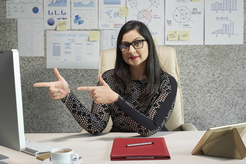 Cheerful project manager stock images