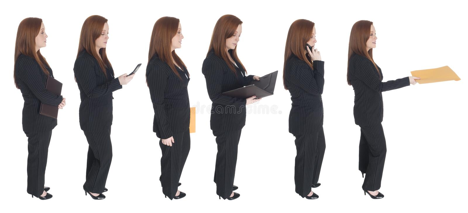 Download Businesswoman - Queue Of One Stock Photo - Image: 6231414