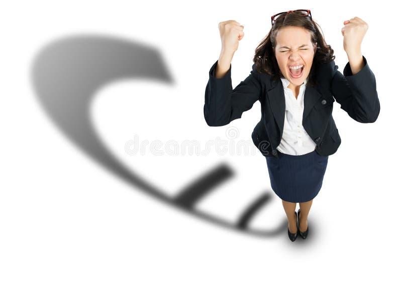 businesswoman radosny obraz royalty free