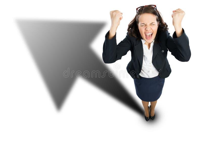 businesswoman radosny fotografia stock
