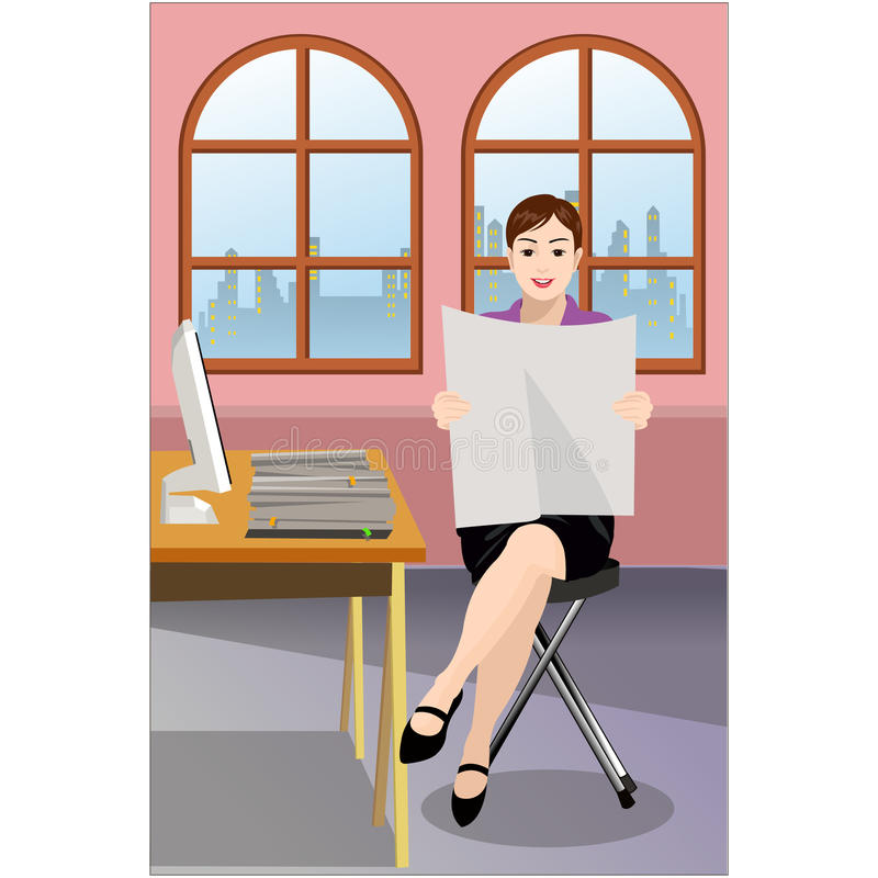 Free Businesswoman Reading Paper Royalty Free Stock Image - 11988656