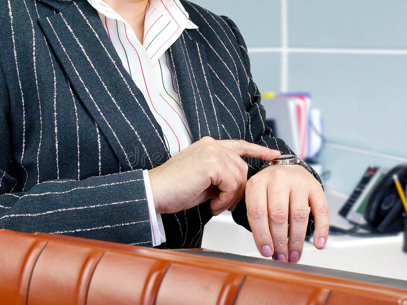 Businesswoman ready for meeting. stock photo