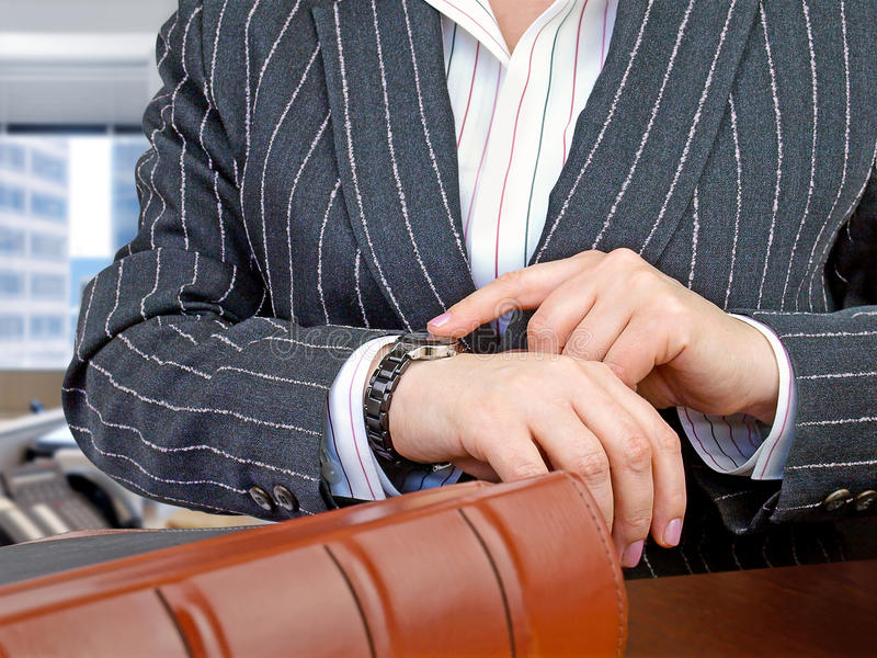 Businesswoman ready for meeting. stock image