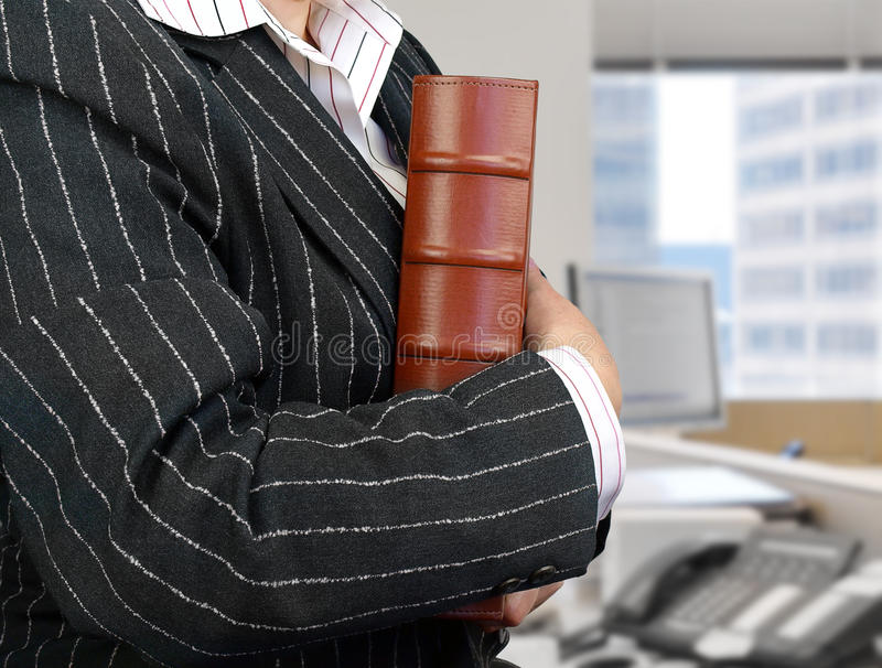 Businesswoman ready for meeting royalty free stock images