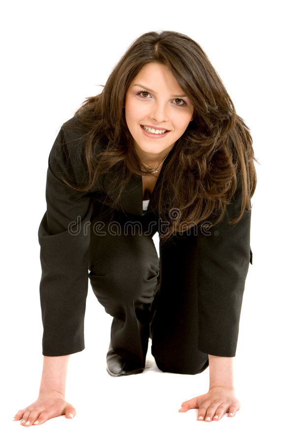 Download Businesswoman Ready To Race Stock Image - Image of focused, active: 7763965