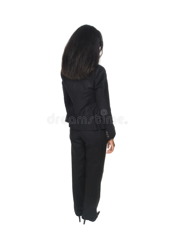 Businesswoman - rear view royalty free stock images