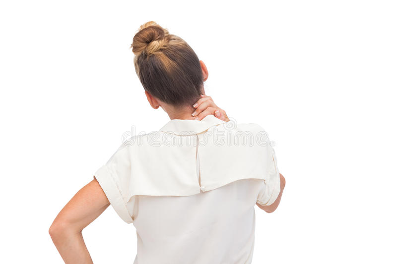 Download Businesswoman Relieving Neck Ache Stock Photo - Image: 31800336